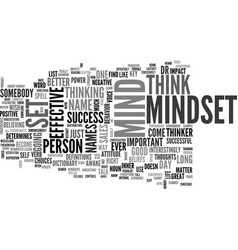 is it mindset or mind set text background word vector image