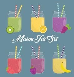 Jar mason design vector