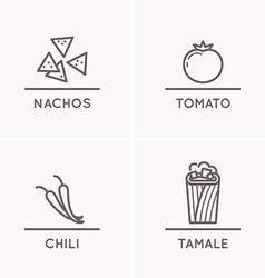 Mexican culture set 1 vector image