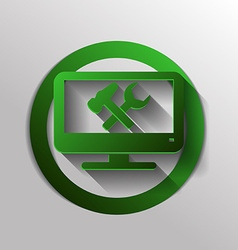monitor symbol settings icon computer settings vector image