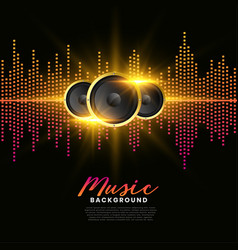 Music speakers background album cover poster vector