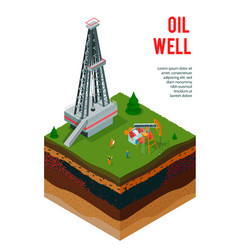 Oil well profile background vector