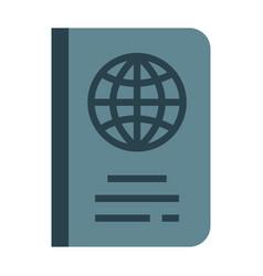 Passport flat vector