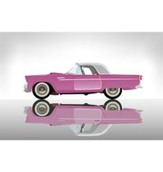 Pink classic auto vector