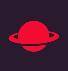 Planet icon astronomy symbol vector
