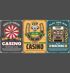 poker slot machine 777 in casino lucky horseshoe vector image