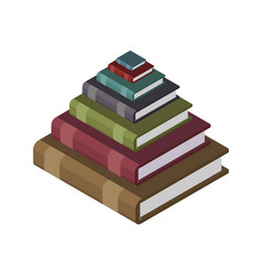Pyramid from books knowledge and training concept vector