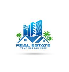 real estate logo design - home logo vector image