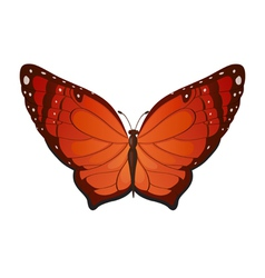 Red butterflies vector