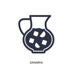 Sangria icon on white background simple element vector