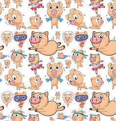 seamless pigs vector image
