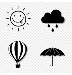 seasons weather icon set collection isolated vector image