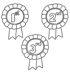 set of ribbons award vector image