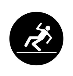 slippery floor sign icon design vector image