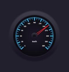 Speedometer blue vector