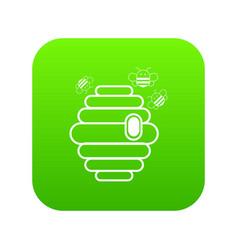 swarm icon green vector image