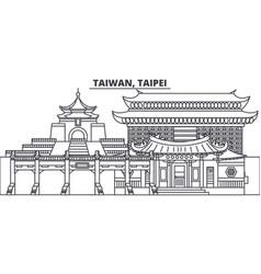 Taiwan taipei line skyline vector