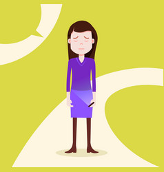 teen girl character grieved hold phone female vector image