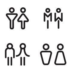 toilet restroom bathroom icons vector image vector image