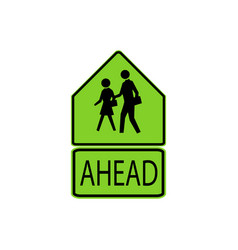 Usa traffic road signs school advance warning vector