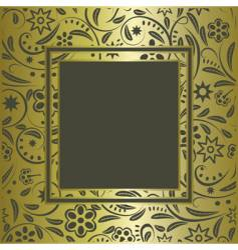 Vintage gold frame vector