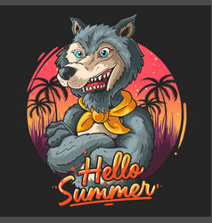 wolf coast guard vector image