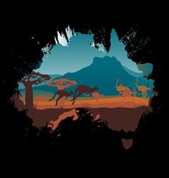 Grunge Australia travel design template vector image