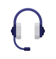 headphones flat icon vector image