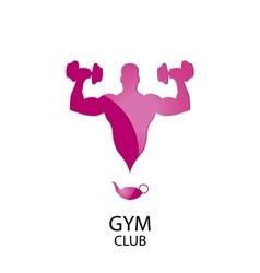 logo gym club vector image