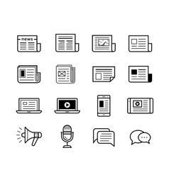 Media icons set - Simplus series vector image vector image