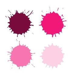 Paint Spots Or Blots vector image vector image