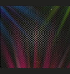 shining colorful light effects glowing vector image vector image