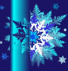 abstract design with snowflakes and space for text vector image