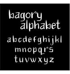 bagory alphabet typography vector image vector image