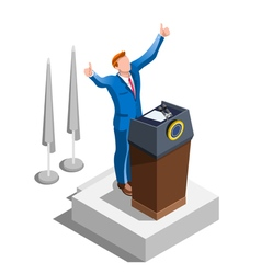 Election Infographic Party Congress Isometric vector image vector image