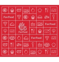 Favorite Food Delivery Abstract Logo vector image