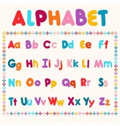 Latin alphabet isolated on white background vector