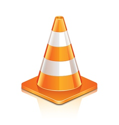 object road cone vector image vector image