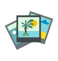 Photo flat icon vector image vector image