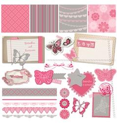 Scrapbook Design Elements - Vintage Lace Butterfli vector image vector image