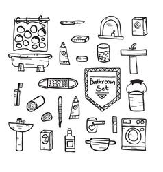 Set of bathroom equipment vector image