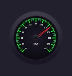 Speedometer Green vector image