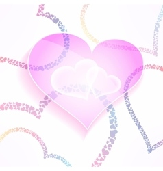 weddign and valentines background with vector image vector image