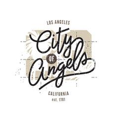 los angeles typographic print vector image vector image