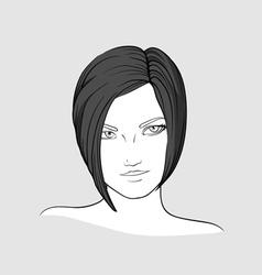 Portrait of brunette girl vector image