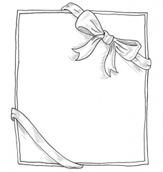 bow doodle vector image vector image