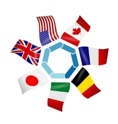 flags countries of the Group of seven vector image vector image