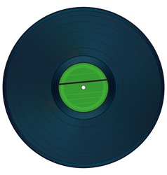 Gramophone disc vector image