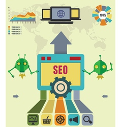 Infographic of seo process vector image vector image