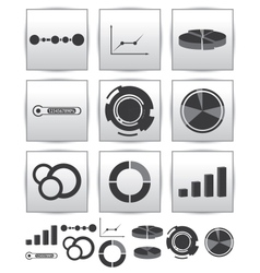 Infographics set icon Swirl line graph vector image vector image